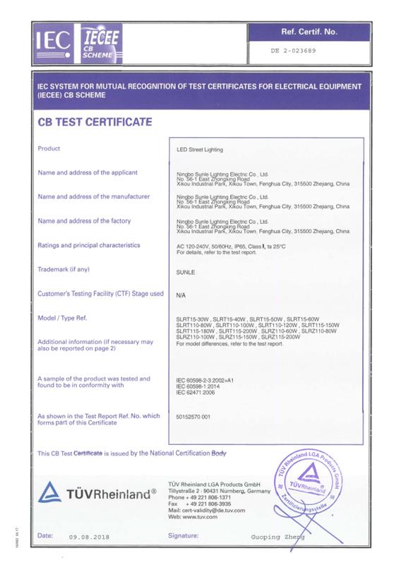 CB Certificate
