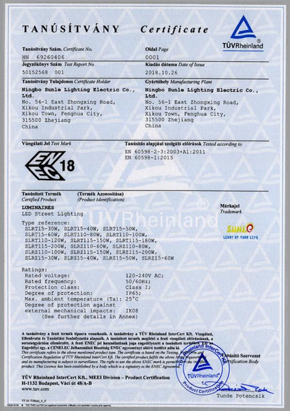 ENEC Certificate - HN 69260406 0001